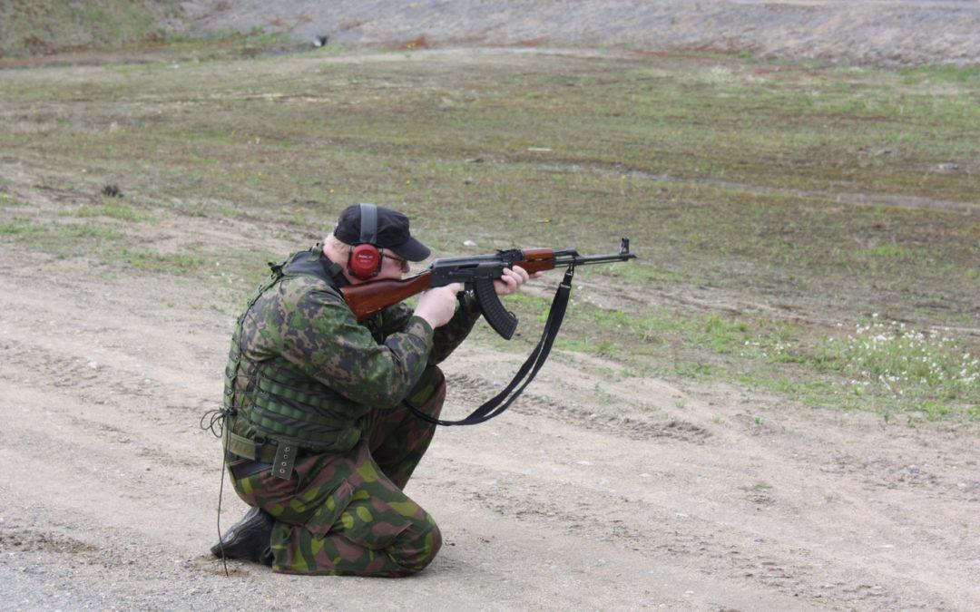 Ammuntapäivä rauhanturvaajille syyskuussa Mikkelin Karkialammella