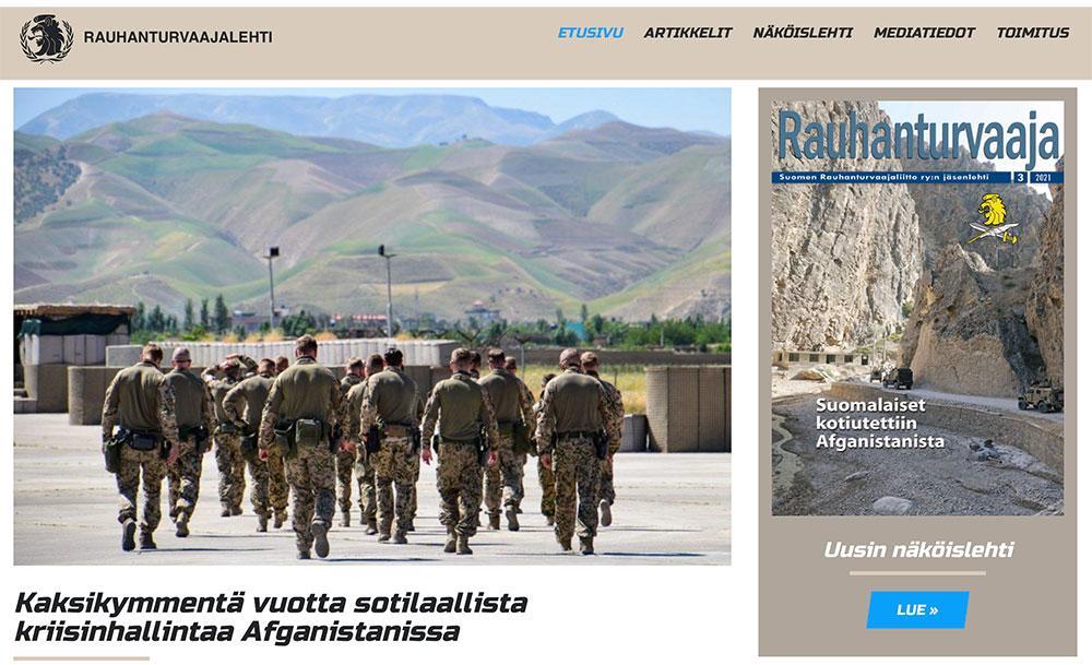 Rauhanturvaaja-lehden verkkosivut uudistuivat – Tutustu uuteen näköislehteen!